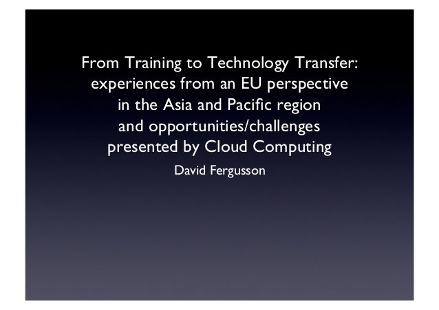 From Training to Technology Transfer: