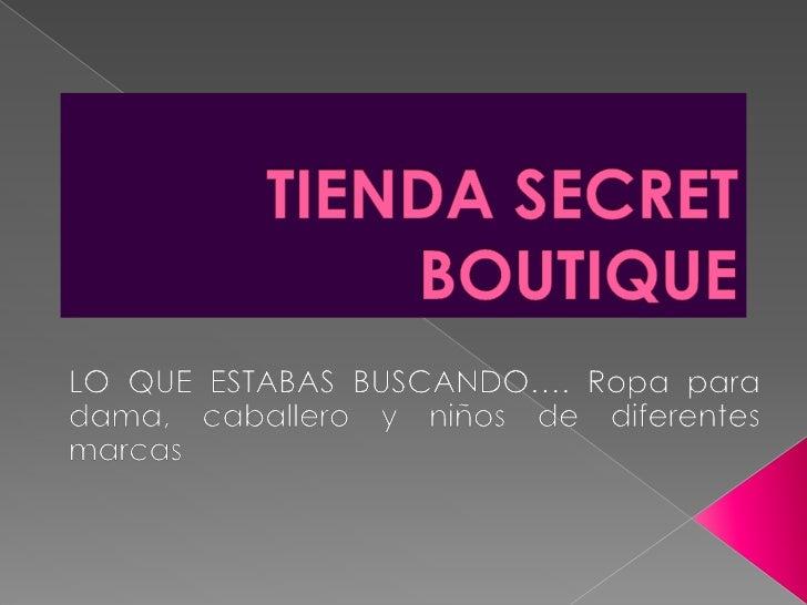 Tienda secret boutique