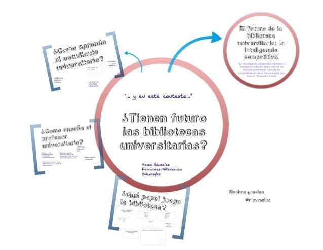 Y en este contexto...¿tienen futuro las bibliotecas universitarias? (2011)