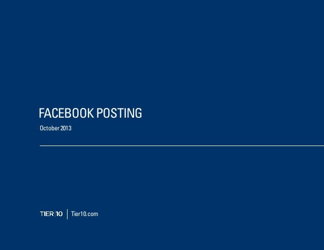 FACEBOOK POSTING Tier10.com October 2013