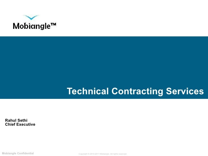 Technical Contracting Services Rahul Sethi Chief Executive Looking  after  Information properly
