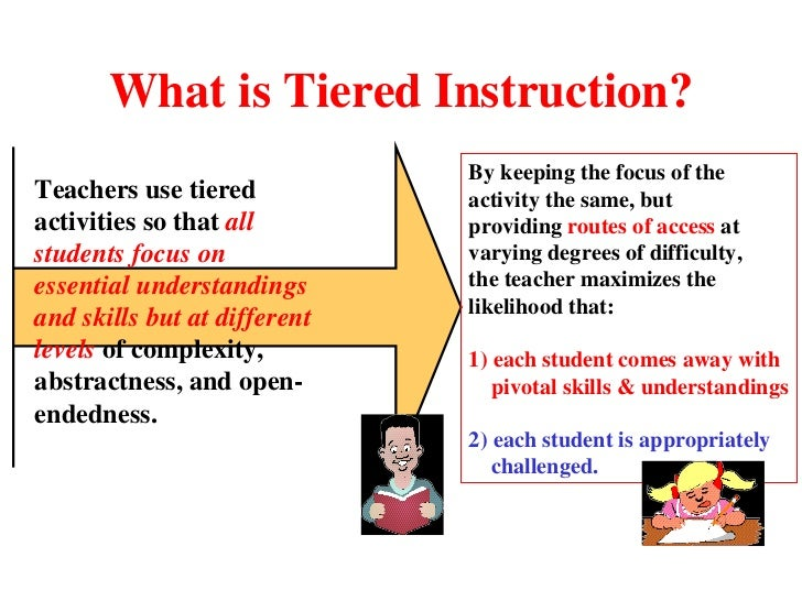 Tiered Assignments Differentiated Instruction Coursework Academic
