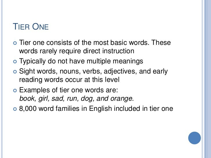 tier 3 vocabulary instruction