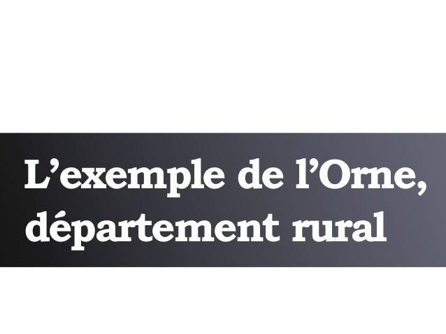 L'exemple de l'Orne,département rural