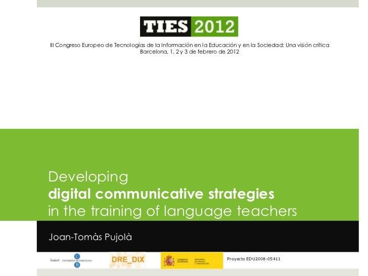 III Congreso Europeo de Tecnologías de la Información en la Educación y en la Sociedad: Una visión crítica                ...