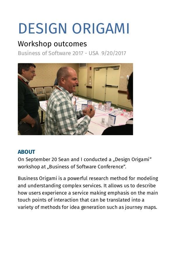 Tieto Design Origami Workshop Bos2017 Outcomes