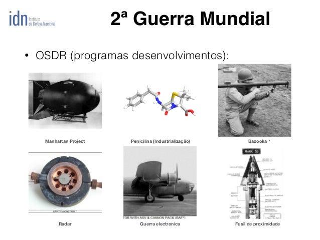 Penicilina (Industrialização)Manhattan Project Bazooka * Guerra electronicaRadar Fusil de proximidade • OSDR (programas de...