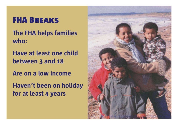 Family Holiday Association mission, work and strategy Slide 3