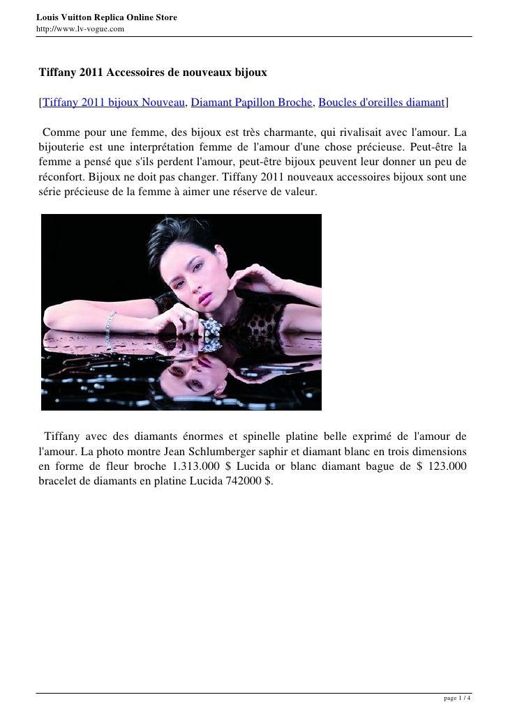 Louis Vuitton Replica Online Storehttp://www.lv-vogue.comTiffany 2011 Accessoires de nouveaux bijoux[Tiffany 2011 bijoux N...