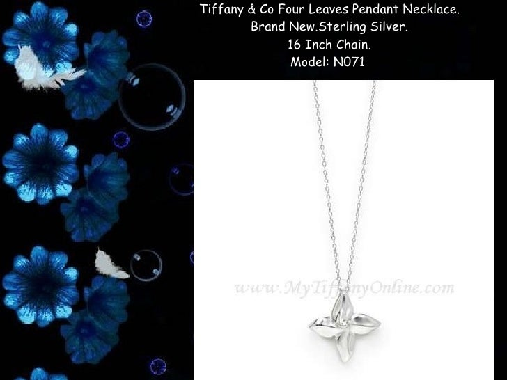 63f9cf6ba Tiffany & co four leaves pendant necklace