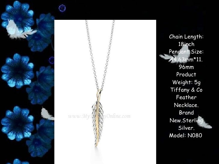 Tiffany co four leaves pendant necklace chain length 18inch pendant mozeypictures Image collections