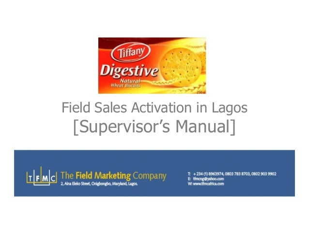 Field Sales Activation in Lagos [Supervisor's Manual][Supervisor's Manual]