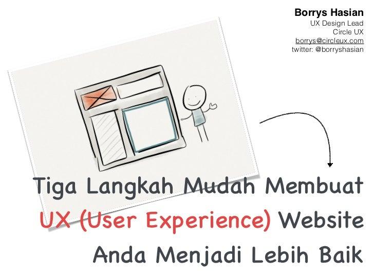 Borrys Hasian                            UX Design Lead                                   Circle UX                       ...