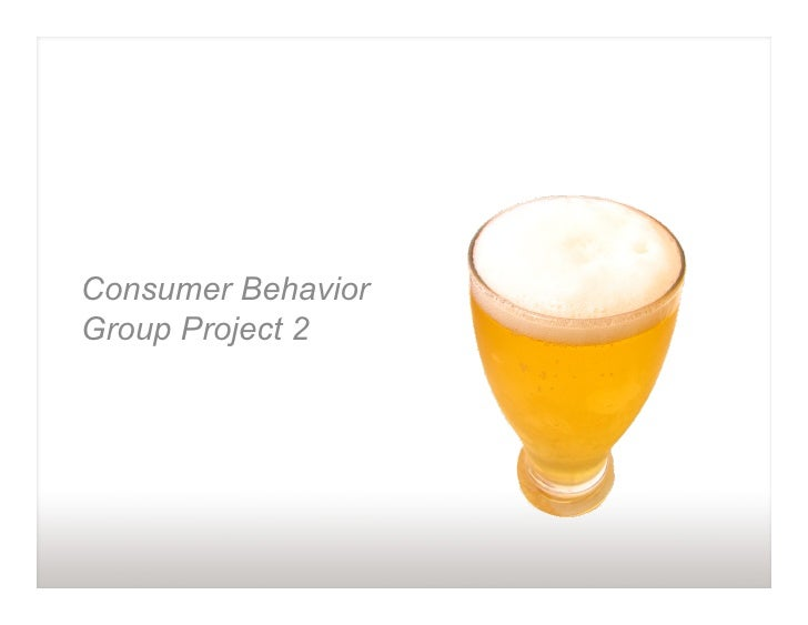 Consumer Behavior Group Project 2
