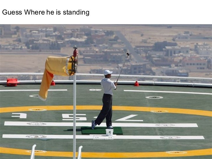 Guess Where he is standing