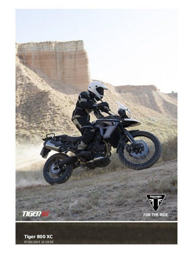 Triumph Tiger 800 Xc And Xcx Brochure