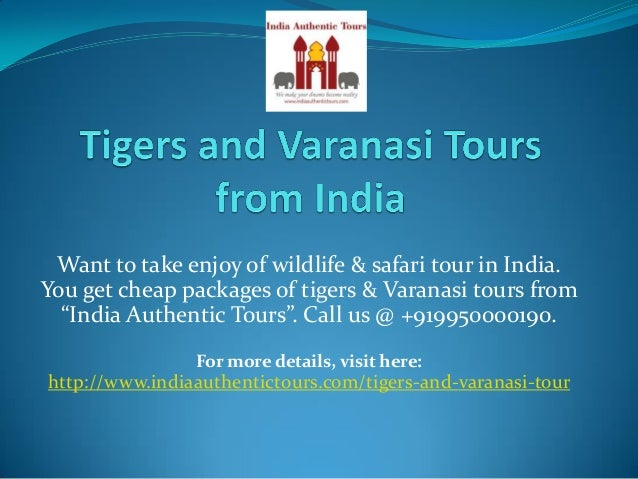 Want to take enjoy of wildlife & safari tour in India. You get cheap packages of tigers & Varanasi tours from India Authen...