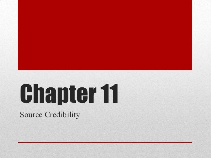 Chapter 11 Source Credibility