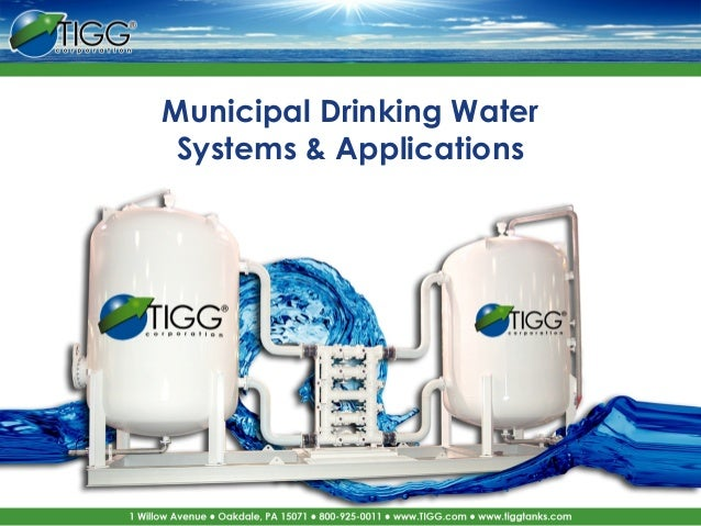Tigg Minicipal Water Treatment Systems