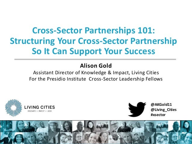 Cross-Sector Partnerships 101: Structuring Your Cross-Sector Partnership So It Can Support Your Success Alison Gold Assist...