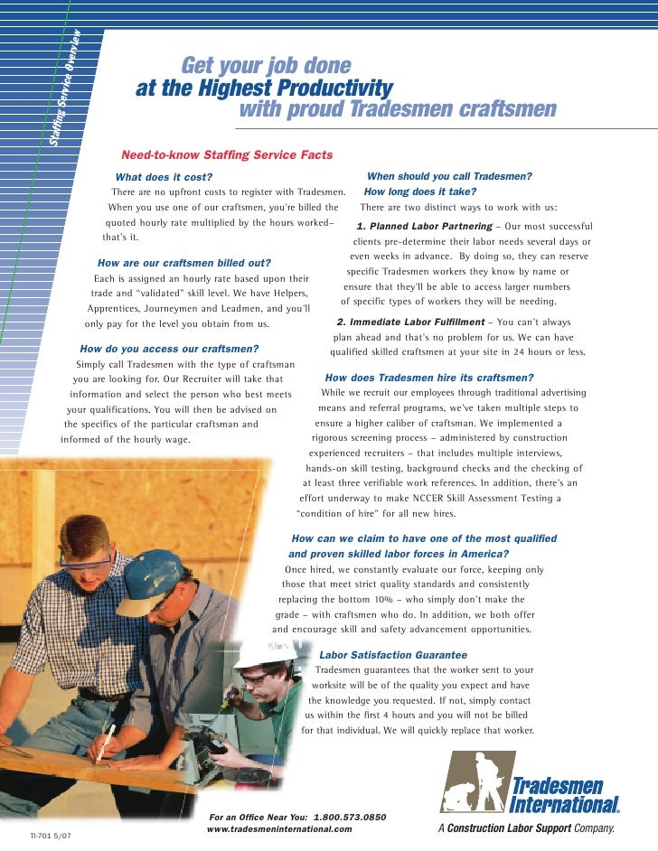Tradesmen international apprenticeship