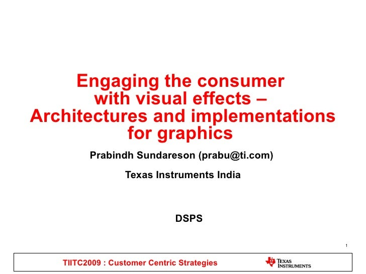 Engaging the consumer  with visual effects –  Architectures and implementations for graphics  Prabindh Sundareson ( [email...