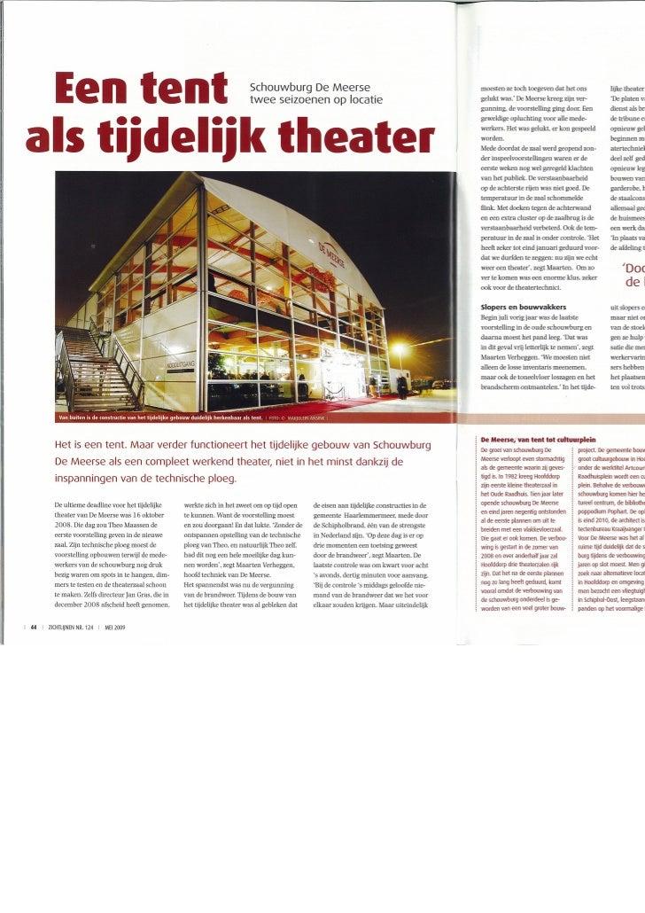 Een tent als tijdelijk theater