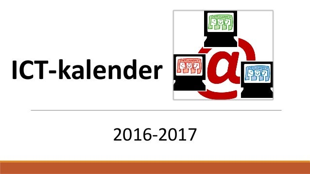 ICT-kalender 2016-2017