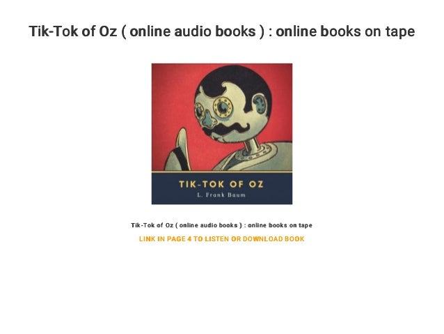 Tik-Tok of Oz ( online audio books ) : online books on tape