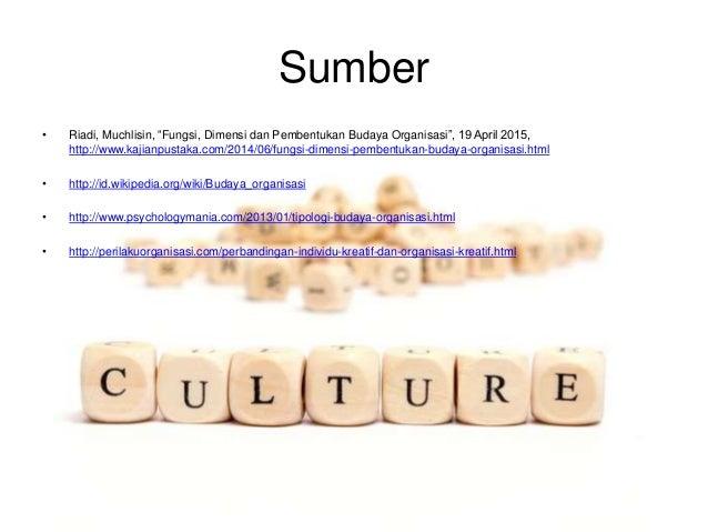 "Sumber • Riadi, Muchlisin, ""Fungsi, Dimensi dan Pembentukan Budaya Organisasi"", 19 April 2015, http://www.kajianpustaka.co..."