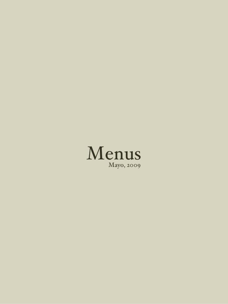 Menus Mayo, 2009