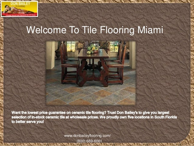 Tile Flooring Miami