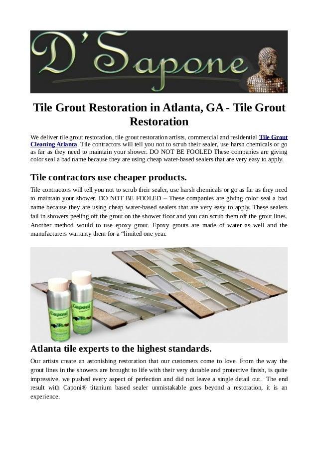 Tile Grout Restoration In Atlanta Ga Tile Grout Restoration