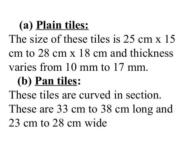 cm wide  11. Tiles