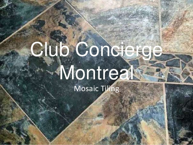 Club Concierge Montreal Mosaic Tiling