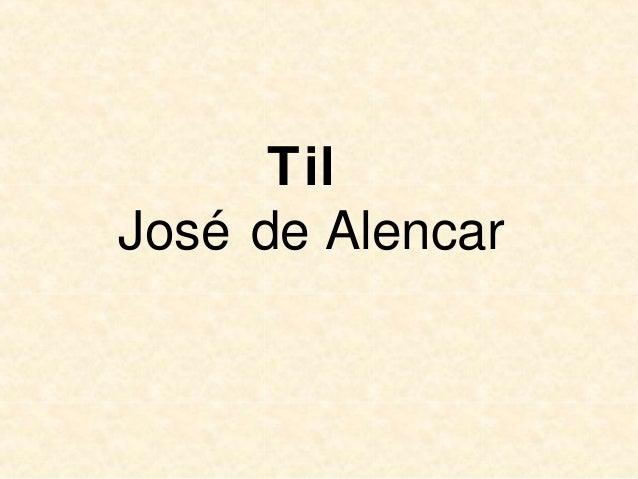Til José de Alencar
