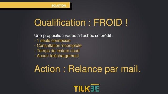 SOLUTION Qualification : FROID ! Une proposition vouée à l'échec se prédit : - 1 seule connexion - Consultation incomplète...