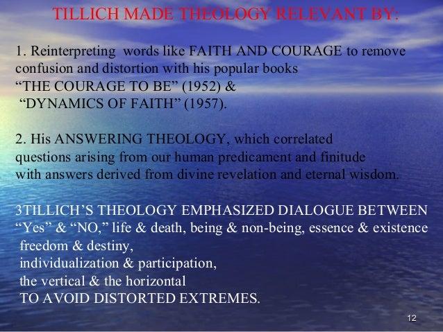 paul tillich dynamics of faith