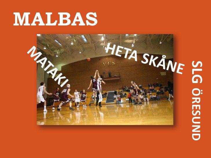 MALBAS<br />HETA SKÅNE<br />MATAKI<br />SLG ÖRESUND<br />