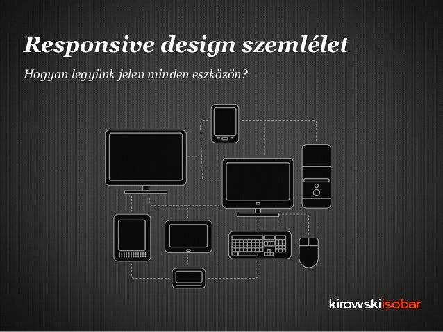 Responsive design szemléletHogyan legyünk jelen minden eszközön?