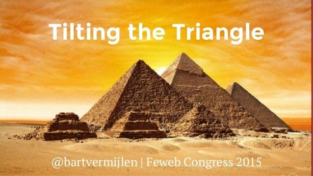 Tilting the Triangle @bartvermijlen | Feweb Congress 2015