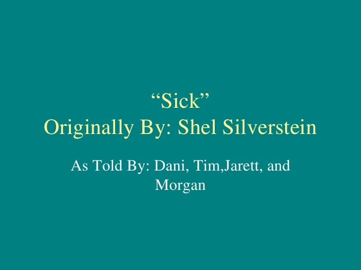 sick poem by shel silverstein pdf
