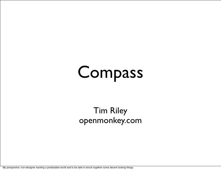 Compass                                                                         Tim Riley                                 ...