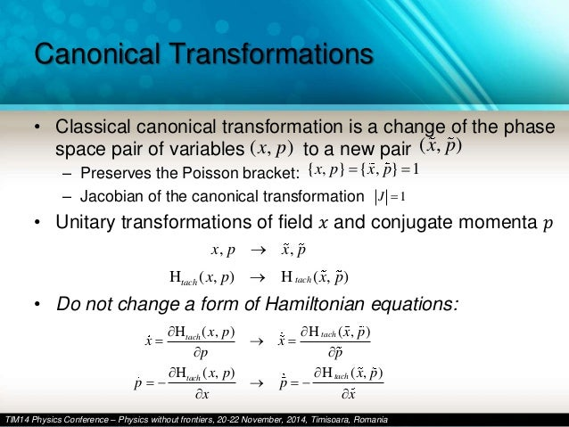 Example of canonical transformation and getting generating.