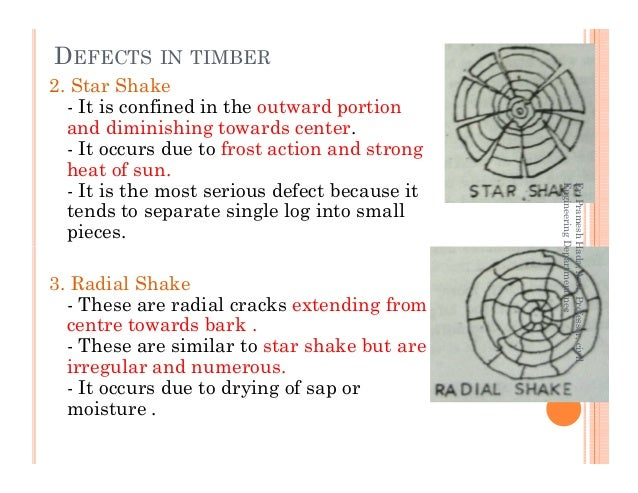 2. Star Shake - It is confined in the outward portion and diminishing towards center. - It occurs due to frost action and ...