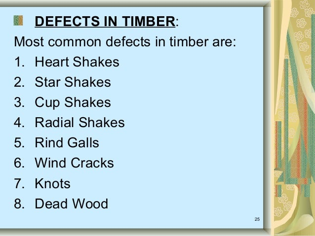 defects of timber pdf