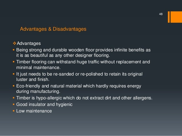 Advantages U0026 Disadvantages Advantages  Being Strong And Durable Wooden  Floor ... Nice Design