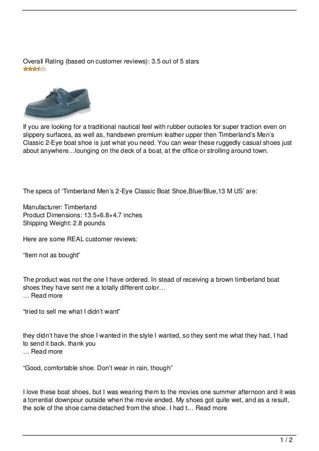6860ca4a0f Timberland Men  8217 s Classic 2-Eye Boat Shoe