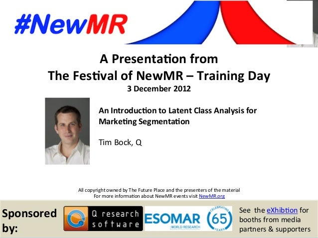 Tim Bock, Q, Australia Festival of NewMR 2012 – Training Day – Session 1 A  Presenta*on  from   The  Fes*val  of...