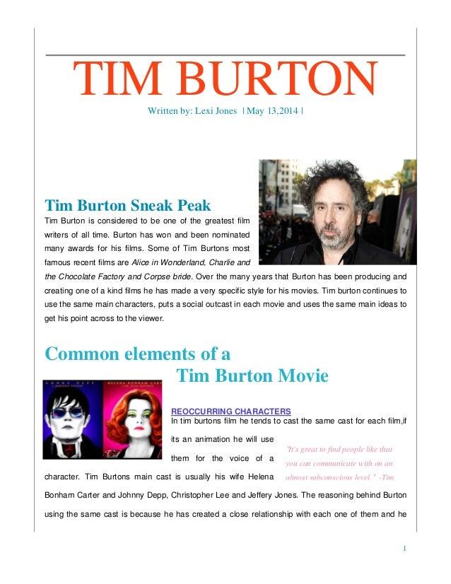 "tim burton style analysis The movie h und tim burton special ""one person's crazyness is another  person's reality"" - tim burton."